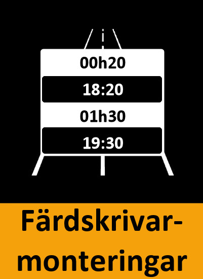 Färdskrivarinstallation