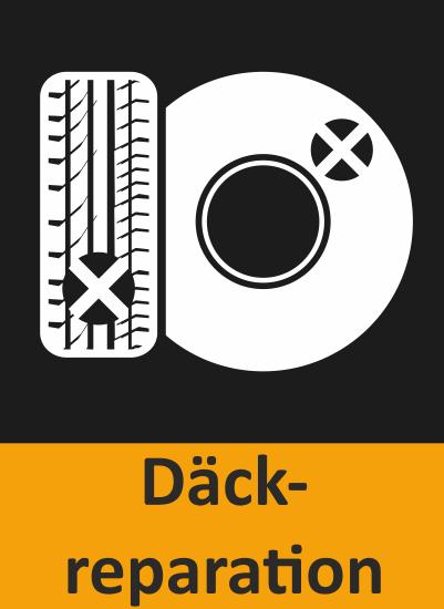 Här ser du en ikon över att BestDrive kan laga bildäck och utföra däckreparationer.