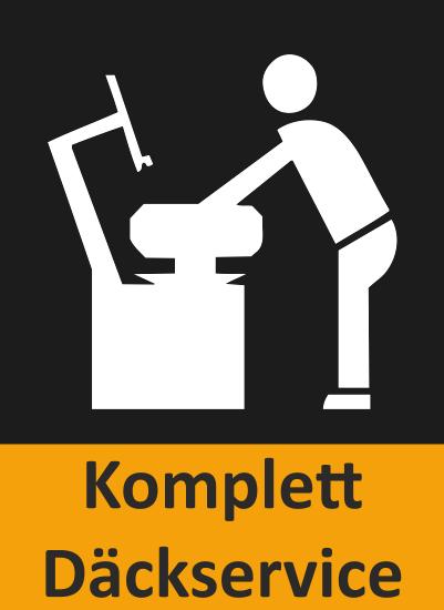 Här ser du en ikon över att BestDrives verkstäder kan erbjuda komplett däckservice.