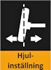 Här ser du en liten ikon över hjulinställning.