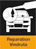 Här ser du en liten ikon över att BestDrive kan laga stenskott och reparera din vindruta.
